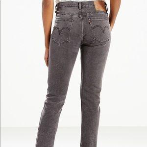 Levi's Orange Tab 505C Cropped Jeans Raw Hem